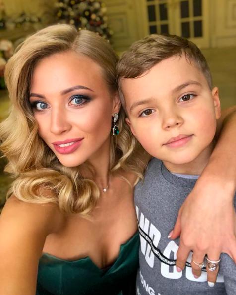 Марина Кищук с сыном Матвеем