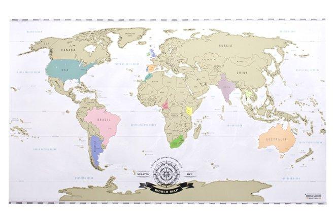 Я был здесь: скретч-карта, которая должна быть у настоящего путешественника