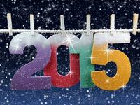 Снежная открытка на Новый год 2015