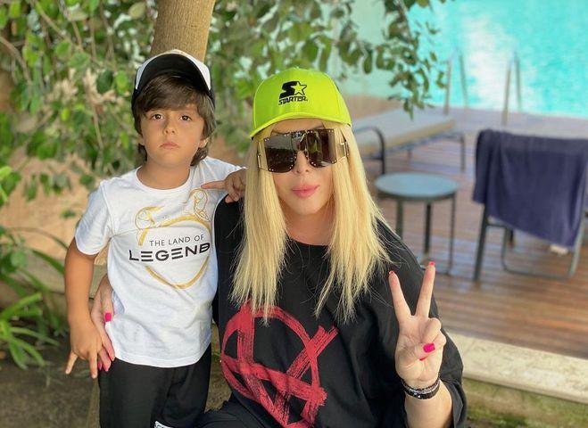 Ірина Білик з сином Табризом