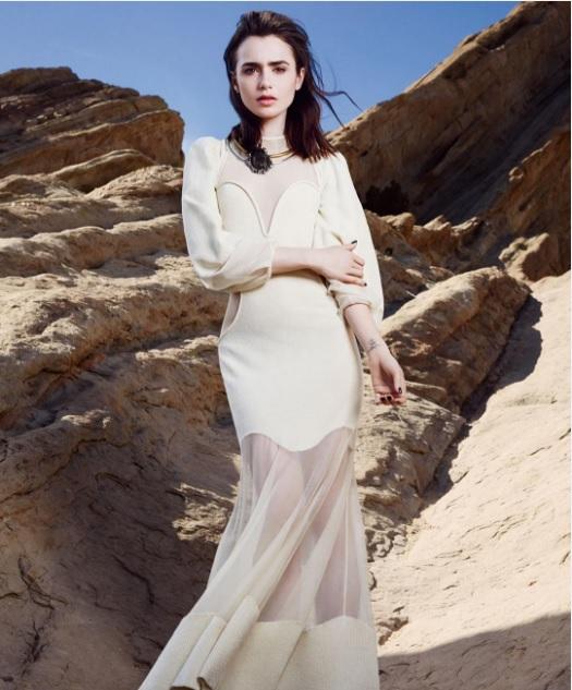 Лілі Коллінз для мексиканського Glamour