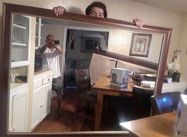 Как оригинально сфоткать зеркало на продажу