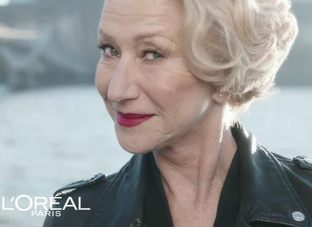 Хелен Міррен у новій рекламній кампанії L'Oréal