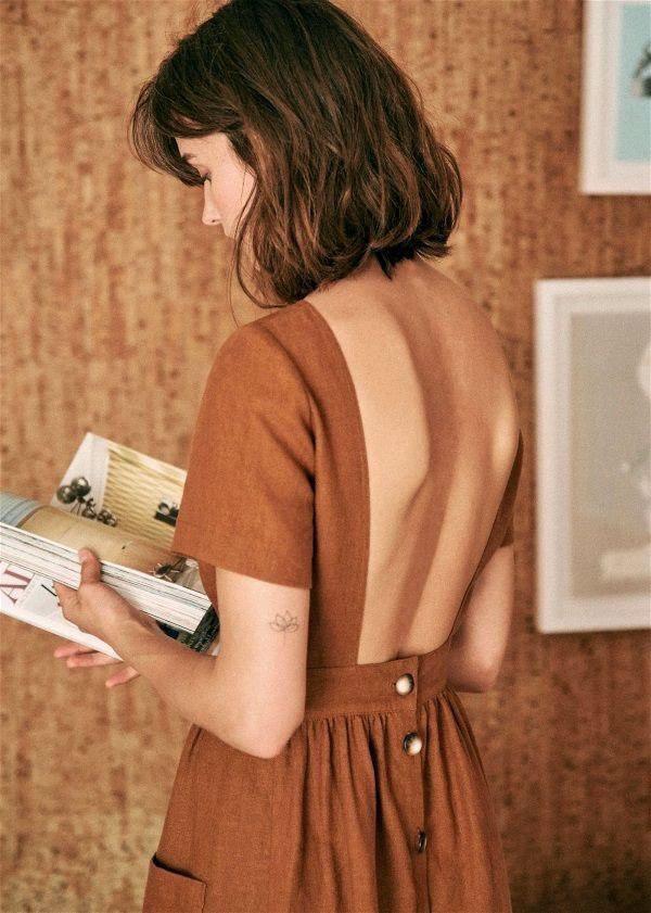 10 повседневных платьев с открытой спиной, которые сделают твой гардероб ярче
