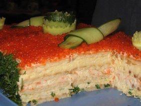 Салат из крекеров