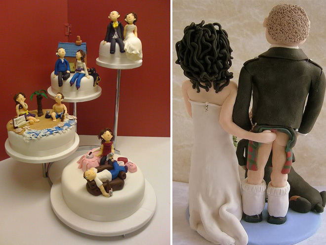Свадебные смешные торты фото