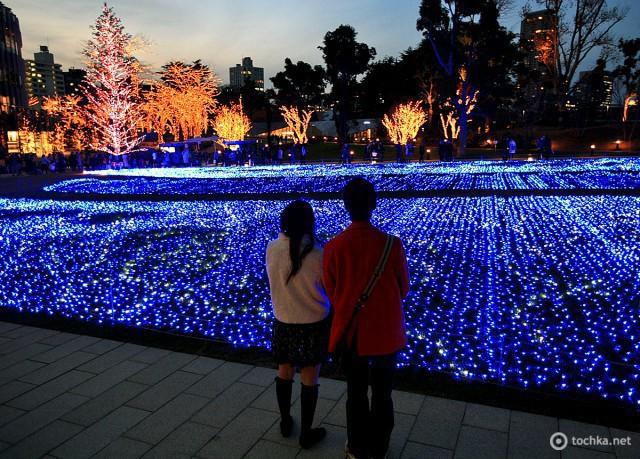 Рождественская иллюминация в городах: Токио