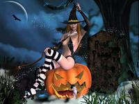 Эротические открытки на Хэллоуин