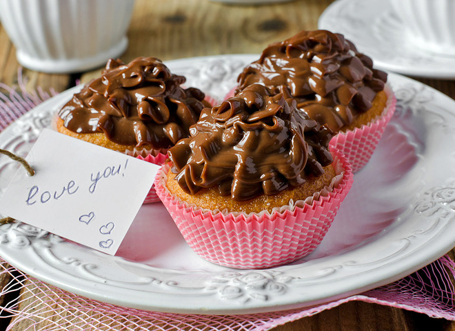 Капкейки на День Святого Валентина рецепт
