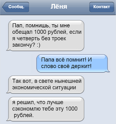 Прикольные смс переписки