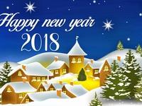 Милые открытки на 2018 год