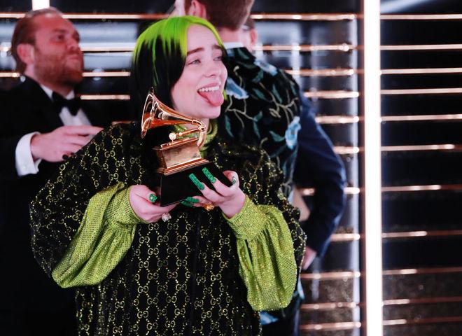 Билли Айлиш на церемонии вручения премии Грэмми-2020