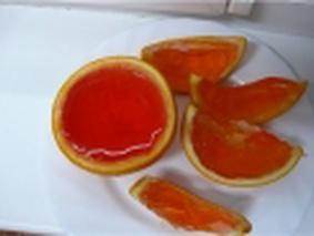 Желе в апельсинке