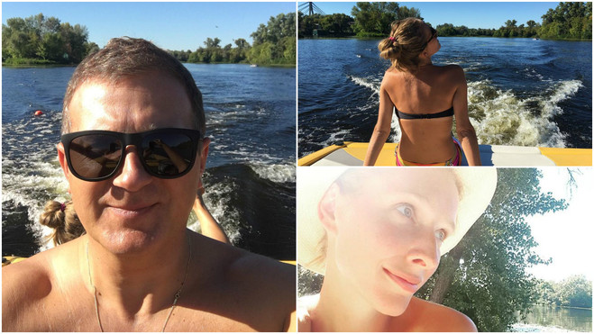 Катя Осадчая и Юрий Горбунов вместе провели выходные
