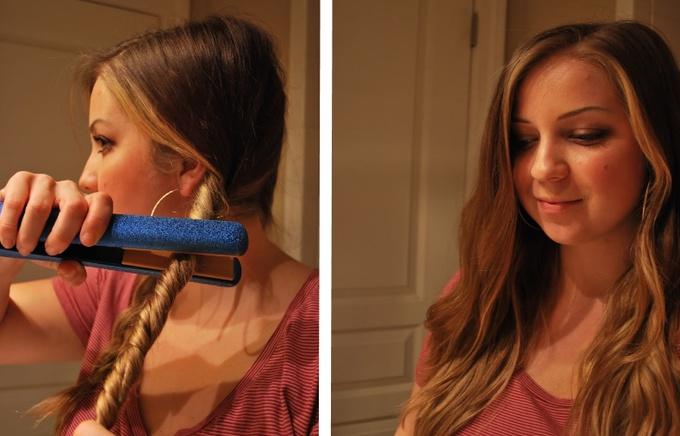 Как выпрямить или завить волосы утюжком
