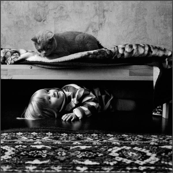 Фотоистория малышки и котэ от Андрея Прохорова