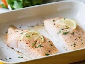 Запеченое филе лосося