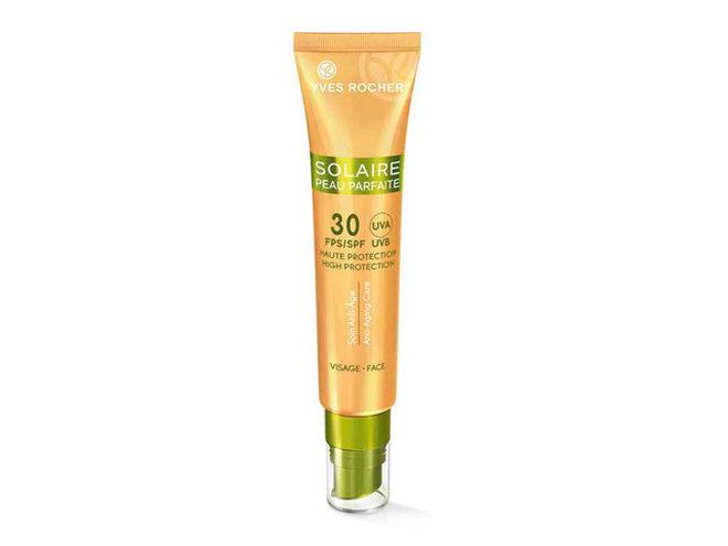 Солнцезащитный матирующий крем для лица SPF 30 Yves Rocher
