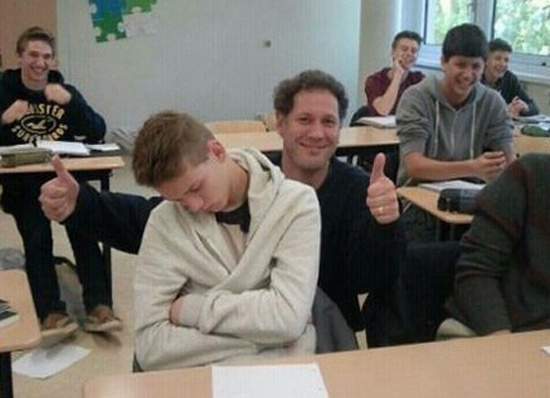 Забавные снимки с учителями