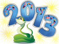 Картинки с Новым годом Змеи