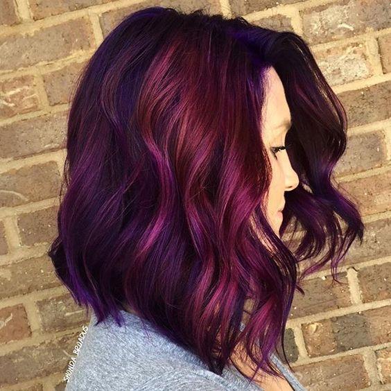 Цвет волос в оттенке драгоценных камней
