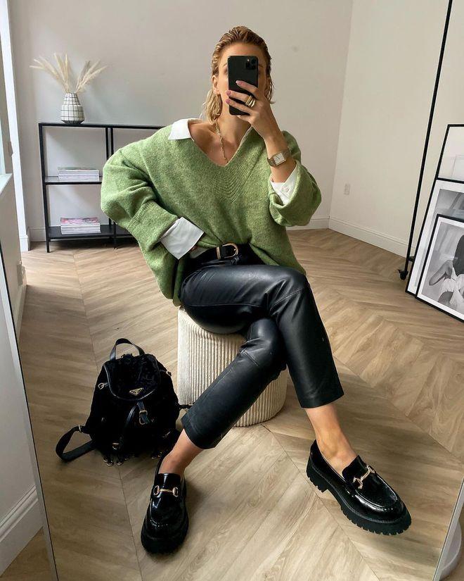 Лоферы на массивной подошве — модный тренд 2021