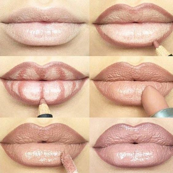 Пошаговый урок как увеличить губы