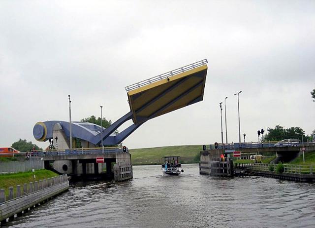 Необычные сооружения нашей планеты: Мост Slauerhoffbrug, Нидерланды