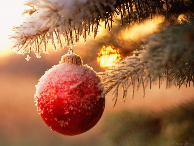 Cнежная картинка с Новым годом