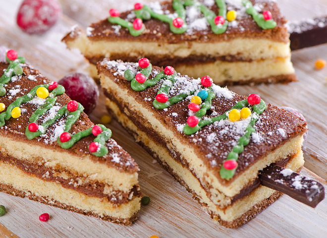 Торт на Новый год 2019 «Еловый лес»
