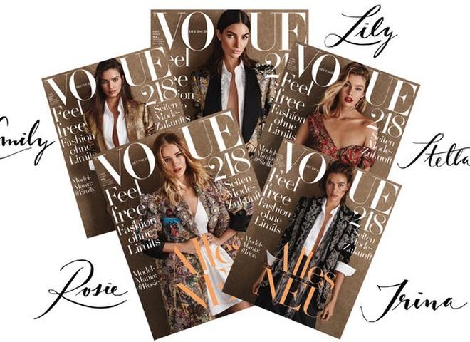 Ірина Шейк і ще 4 топ-моделі на обкладинках Vogue