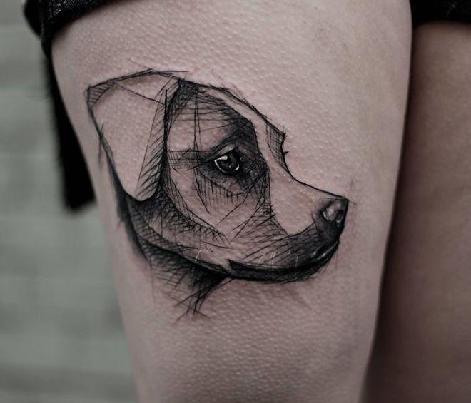 Прикольные татуировки для любителей собак