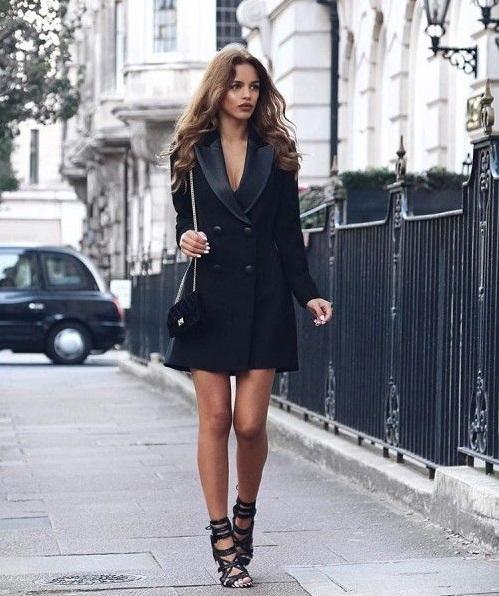 Платье-смокинг