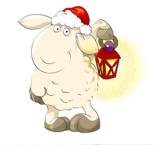 Светлого пути в Новый год овцы 2015