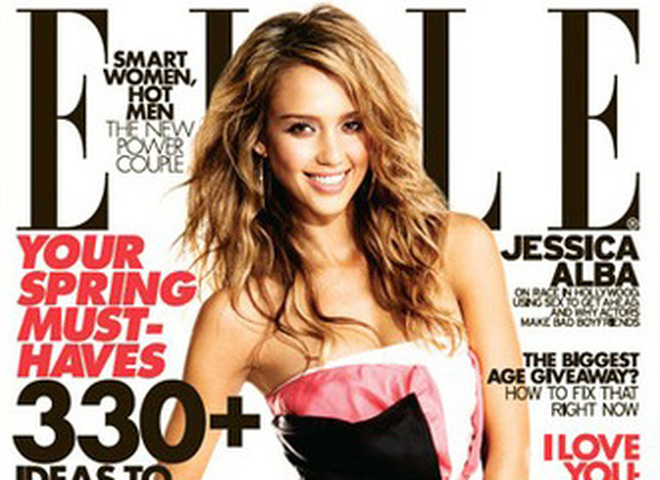 Джессика Альба на обложке в журнала Elle