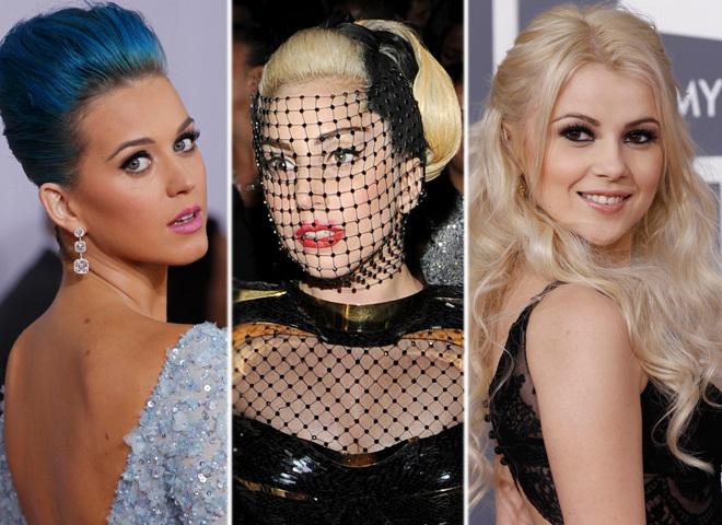 Макияж и прически Grammy 2012