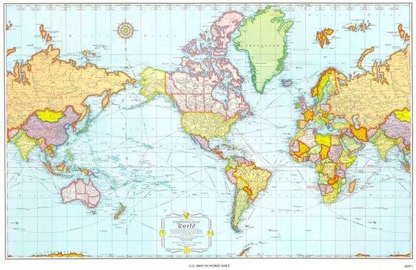 Як виглядають карти світу в різних країнах