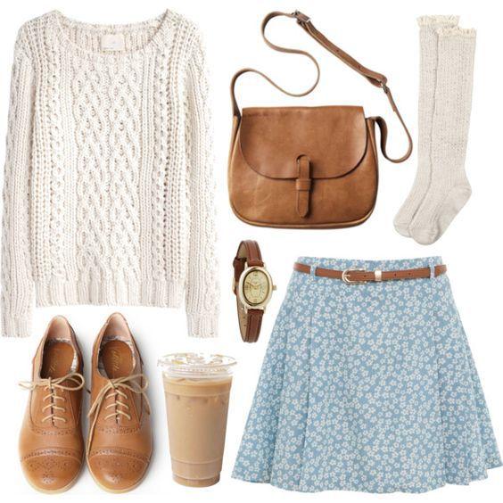 Белый свитер с чем носить