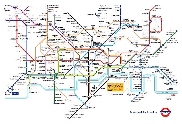 Найзаплутаніші метро світу: Лондон, Великобританія