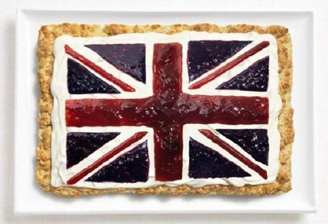 Флаги мира в виде национальных продуктов разных стран