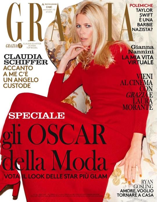 Клаудия Шиффер для Grazia Italy