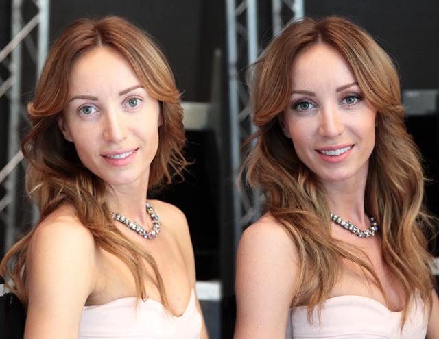 Дневной макияж под цвет волос (репортаж)
