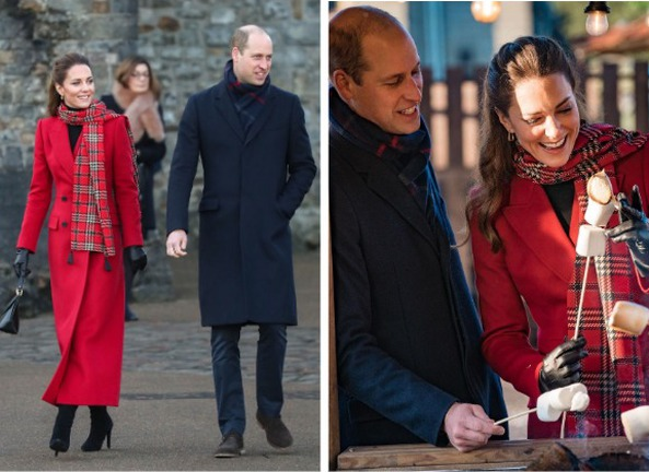 Кейт Миддлтон и принц Уильям в Кардиффе