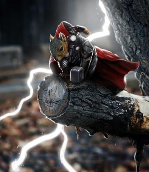 Белка-супергерой