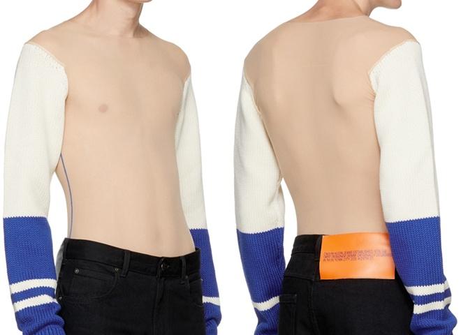 Calvin Klein выпустил «голый» свитер с вязаными рукавами (фото)