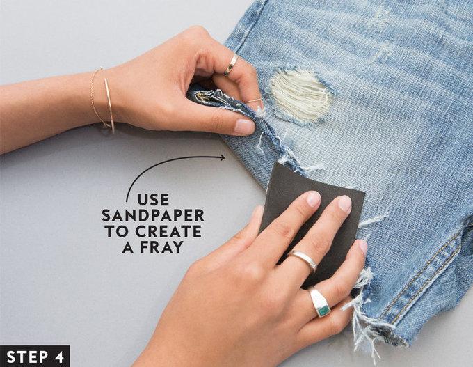 Как сделать шорты из старых джинсов (фото)