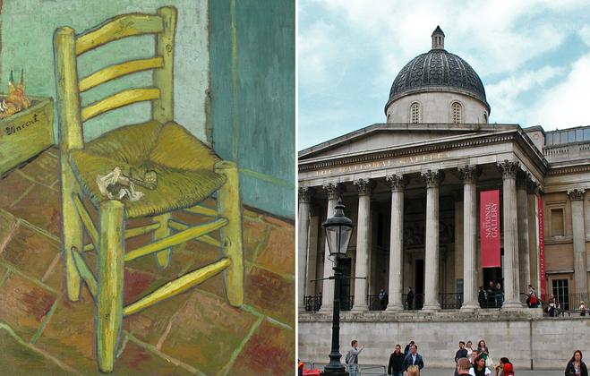 Арт-туризм: Стул Ван Гога и его трубка – Лондонская Национальная галерея