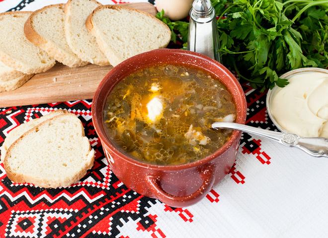 Зеленый борщ - весенний рецепт