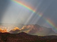 Фотография с радугой