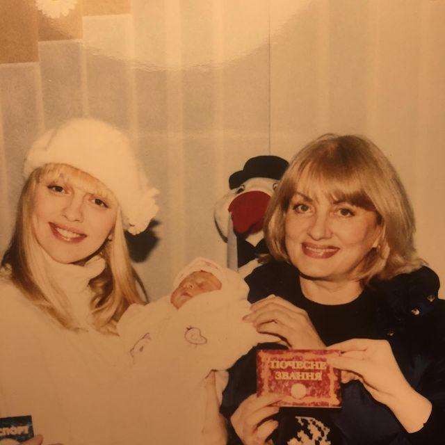Оля Полякова с мамой Светланой и дочерью Машей